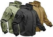Goretex Waterproof Windproof raincoat all weather breatheable spun polyester warm special ops conceal carry mag holder mag pouch removable hood